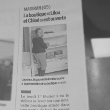 Lilou et Chloé - Article journal