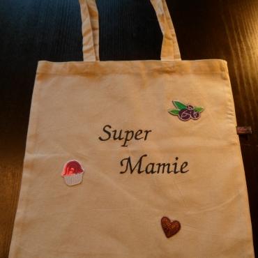 """Tote bag """"Super Mamie"""""""